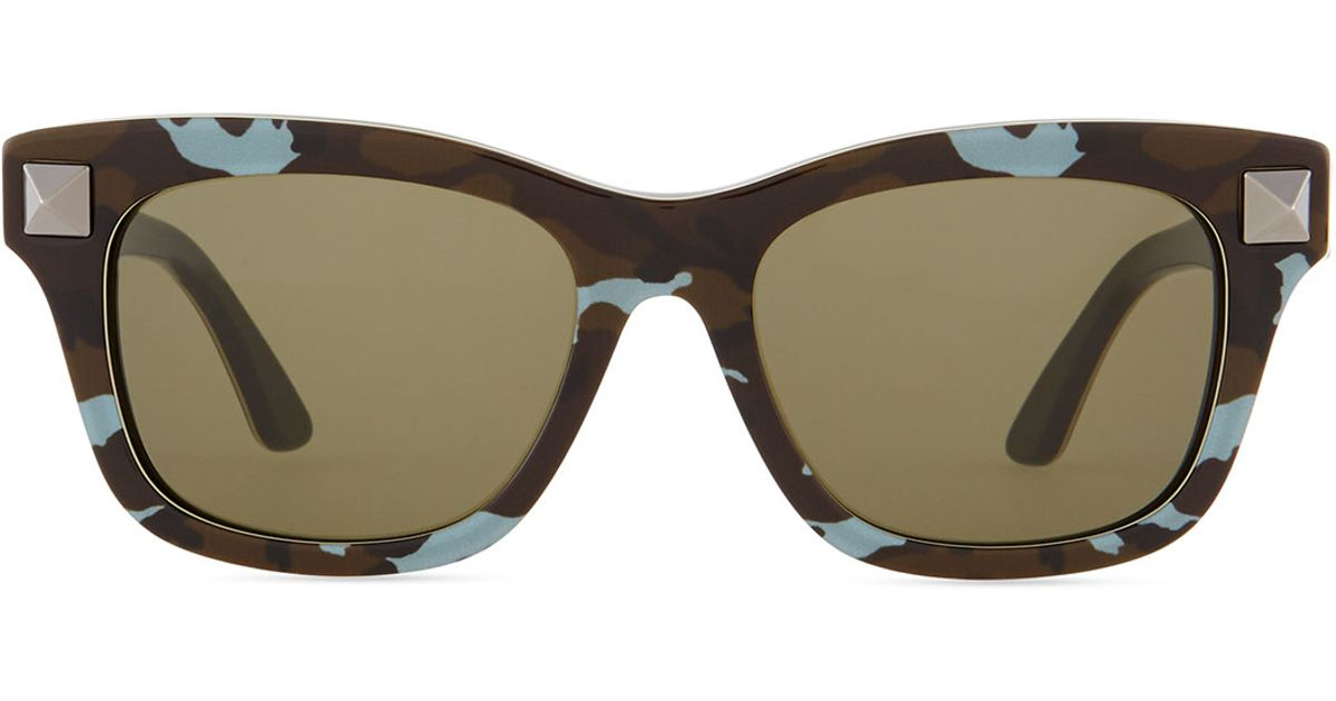 Temple Nude Resin Valentino Lyst Sunglasses Rockstud With In Camo qAnYqOwx4