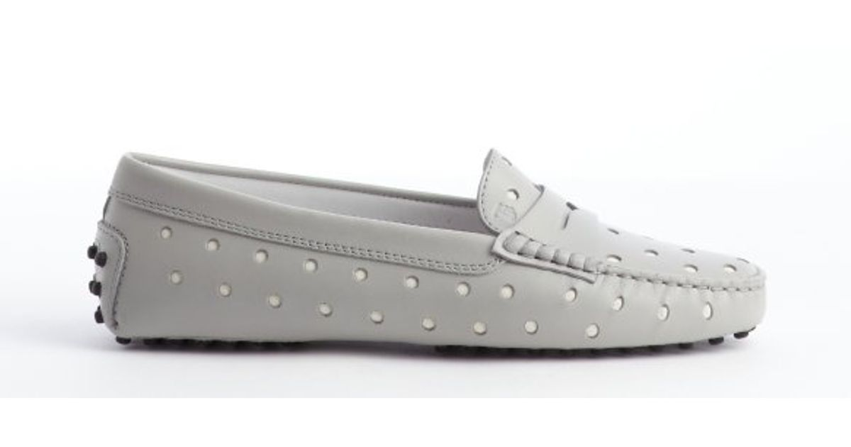 Tod's Suede Perforated Loafers sast sale online PnRJGF84r