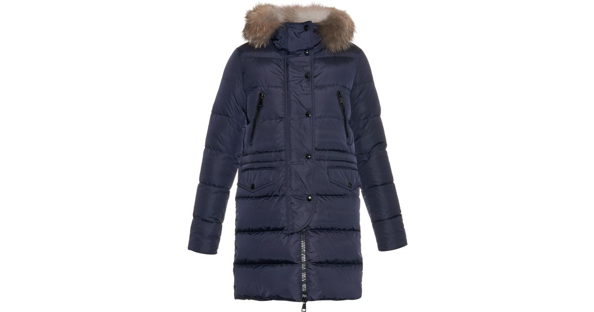 ebbca38b4 best price moncler fur trimmed hooded coat hanger e7520 9f351