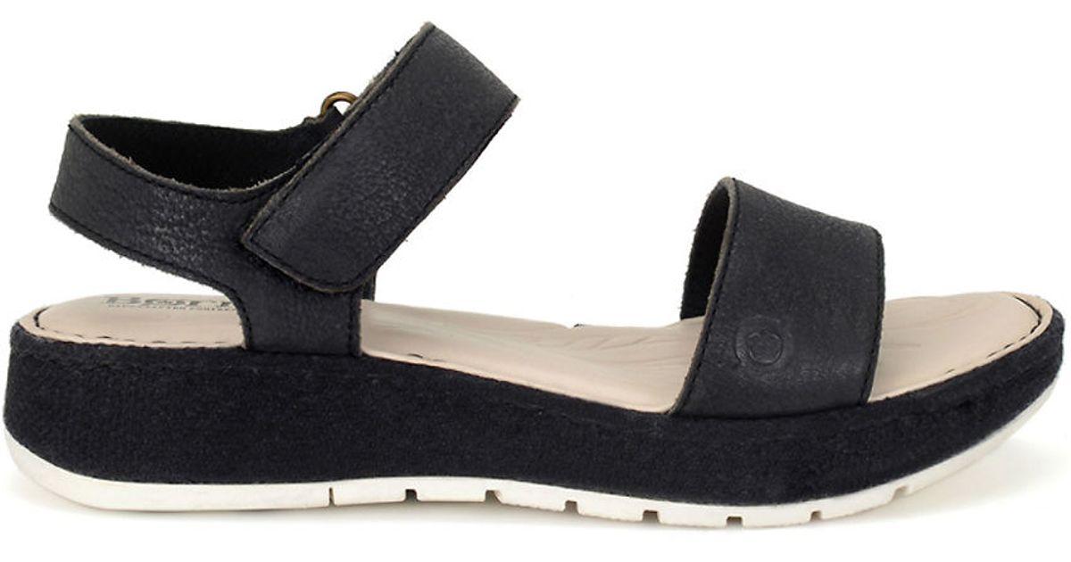 b43d0a299db9 Born Petula Nubuck Sandals in Black - Lyst