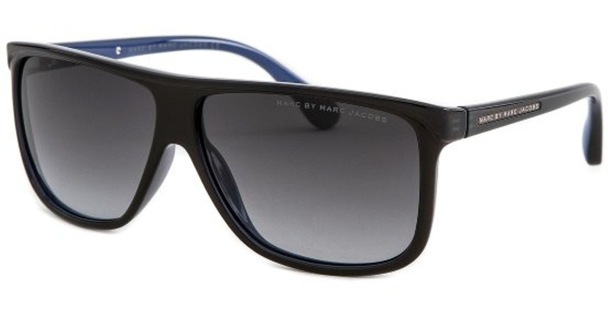 Mens Marc Jacobs Sunglasses  marc by marc jacobs mens rectangle black sunglasses in black for