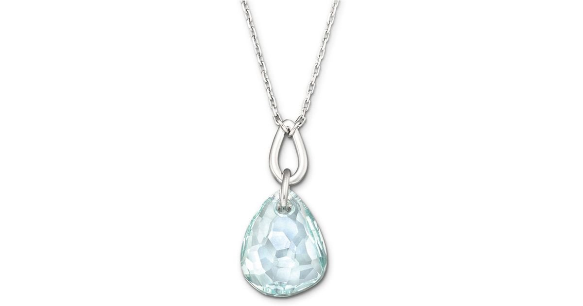 Lyst swarovski parallele micro necklace in blue aloadofball Choice Image