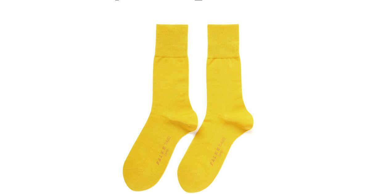 574d906fe5c831 Falke Tiago Split Sole Crew Socks in Yellow for Men - Lyst