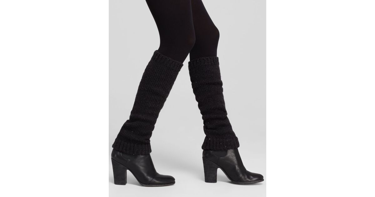 9fbc10ac102 DKNY - Black Sequin Knit Boot Toppers - Lyst