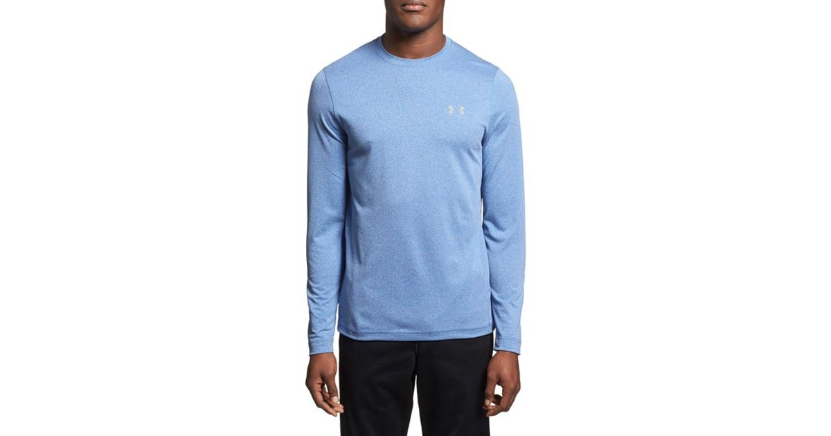 Lyst under armour 39 ua coldgear infrared 39 loose fit for Under armour dri fit long sleeve shirts