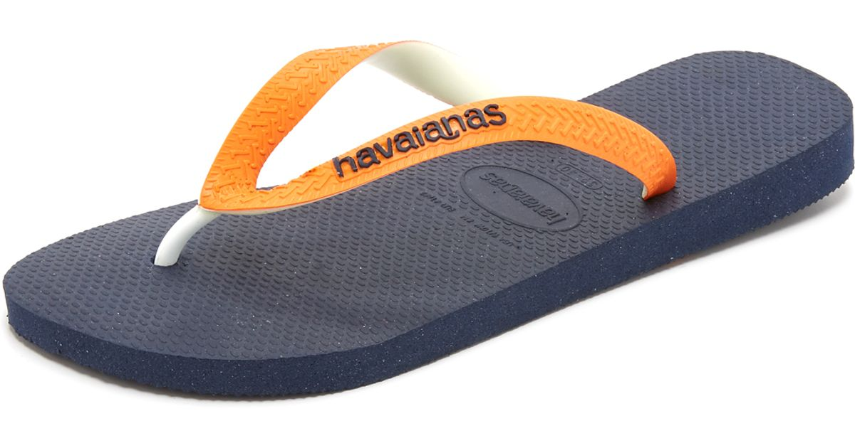 4fc7f218f6a87 Havaianas Top Mix Flip Flops in Blue for Men - Lyst
