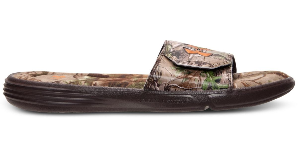 f55cc6a65b03de Lyst - Under Armour Men s Ignite Iii Camo Slide Sandals From Finish Line  for Men