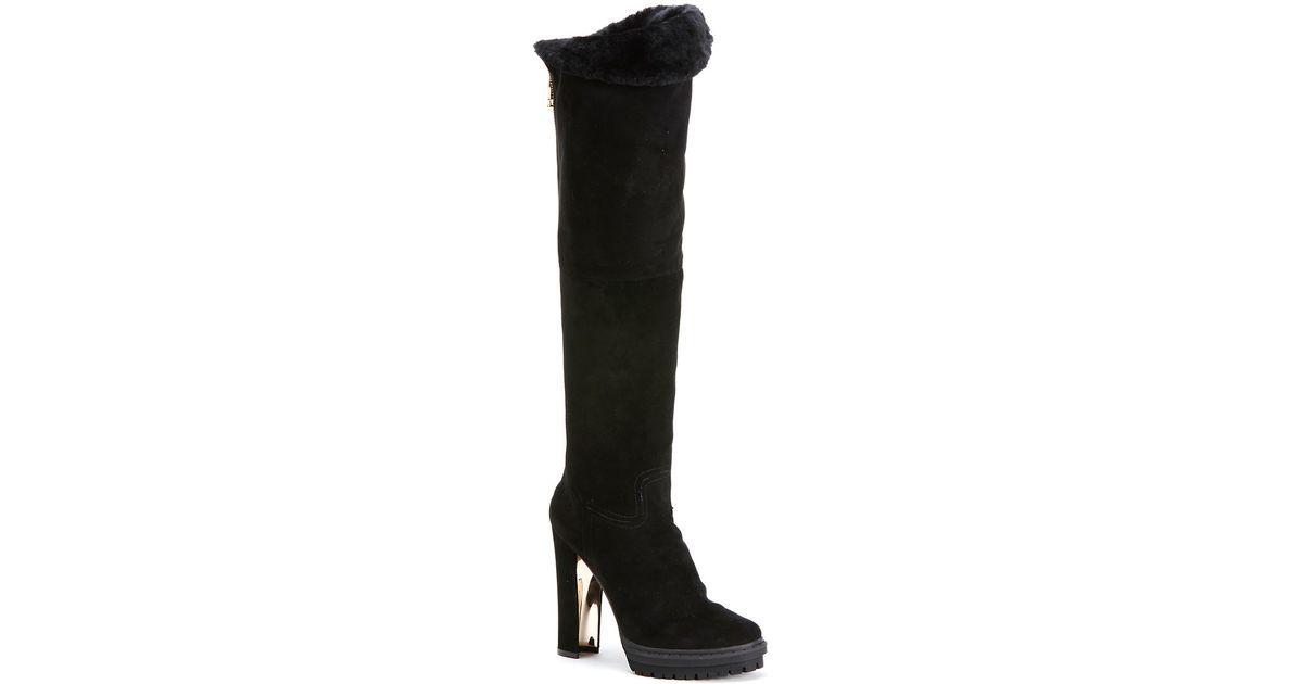 Lyst Rachel Zoe Noah in Shearling lined Boots in Noah Black f6087b