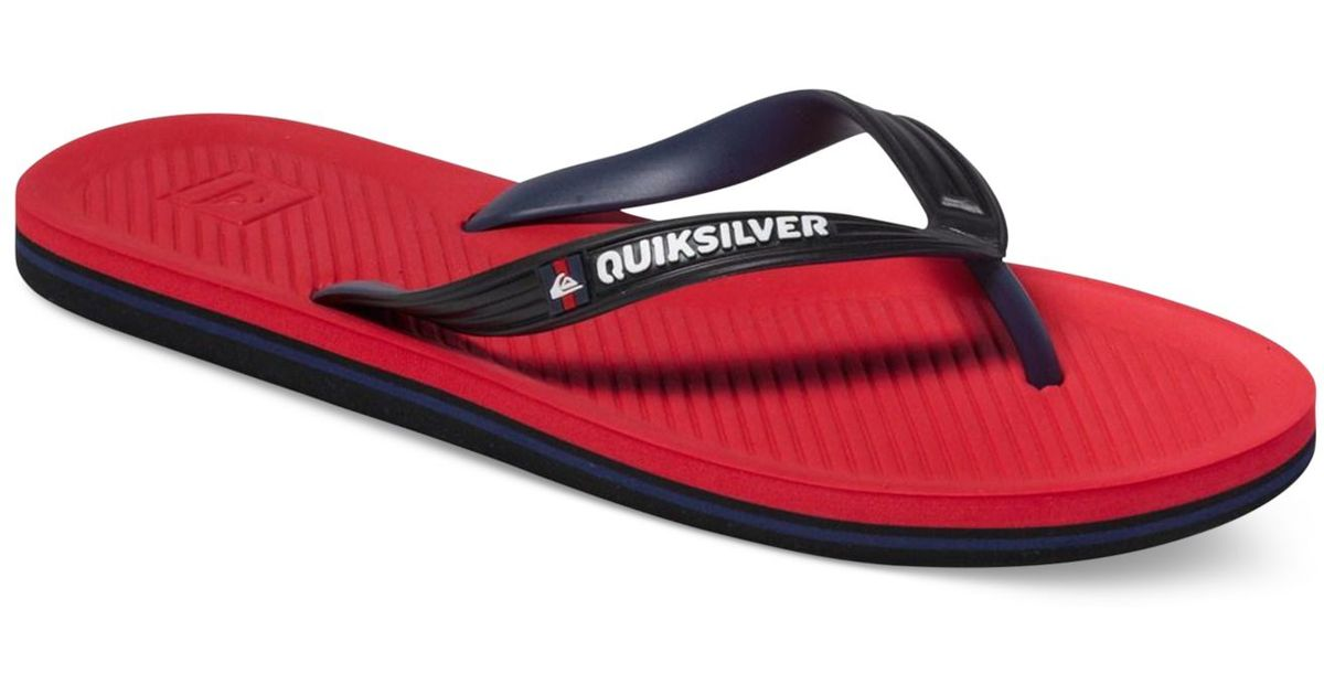 Lyst - Quiksilver Haleiwa Thong Sandals in Black for Men c0fa00815d