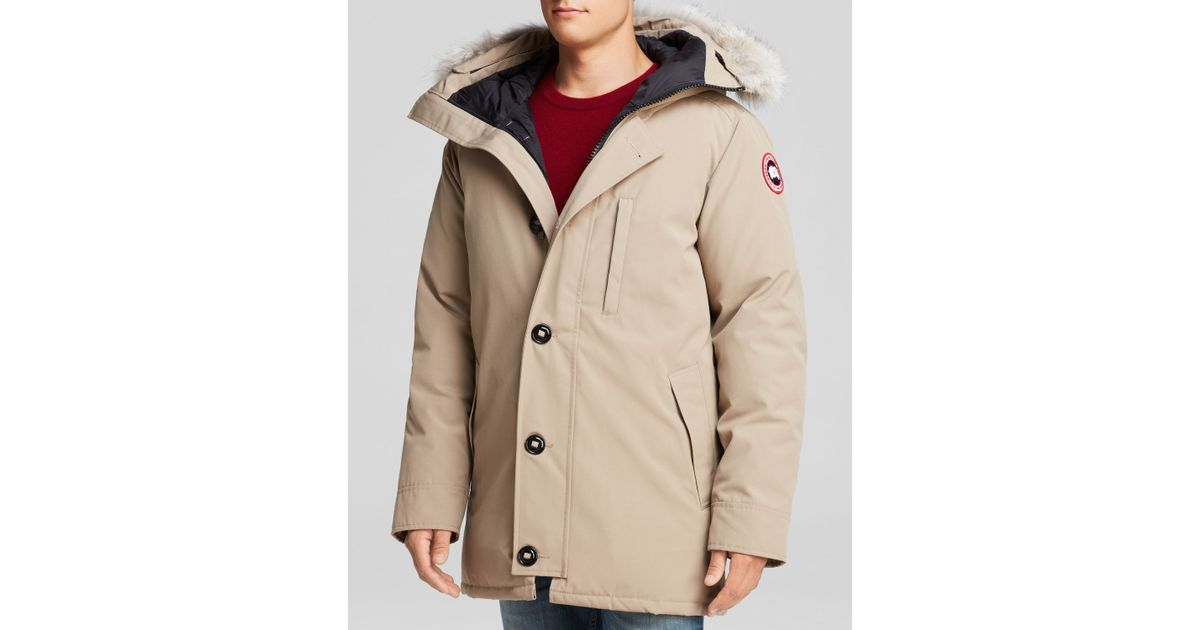 474897071bcd Canada Goose Chateau Parka With Fur Hood in Natural for Men - Lyst