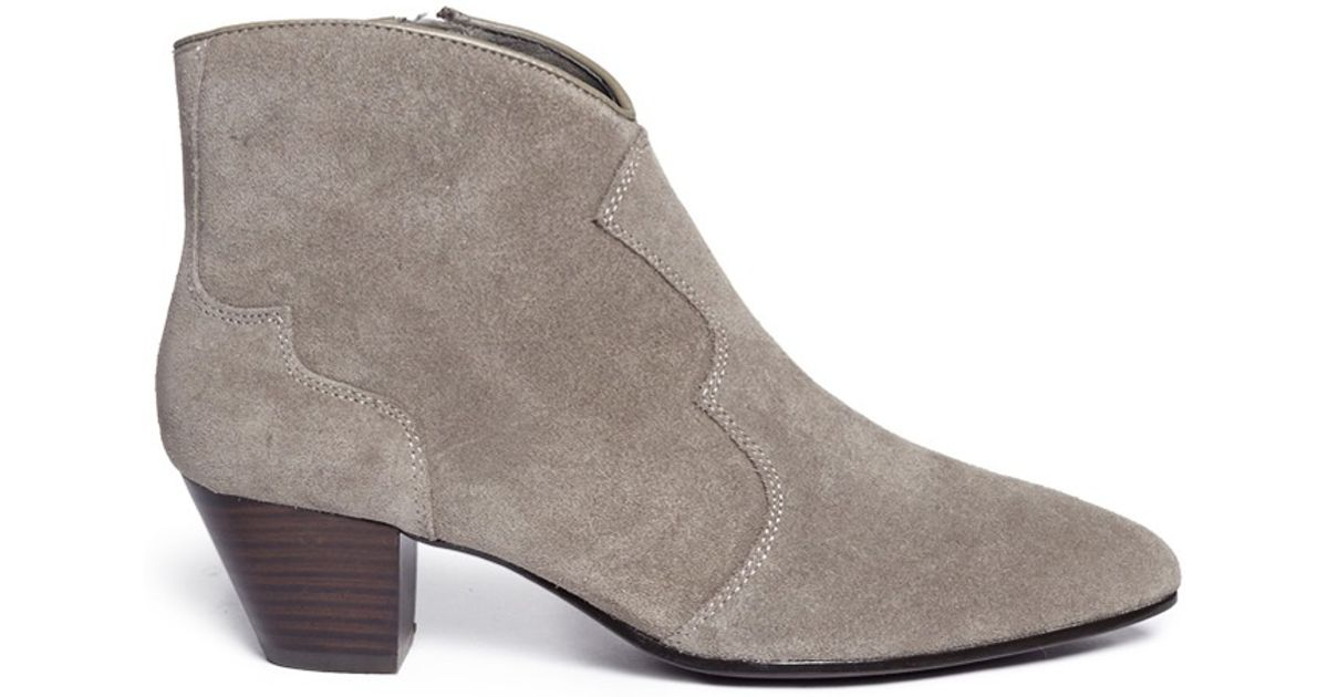 ash hurrican suede cowboy boots in gray lyst