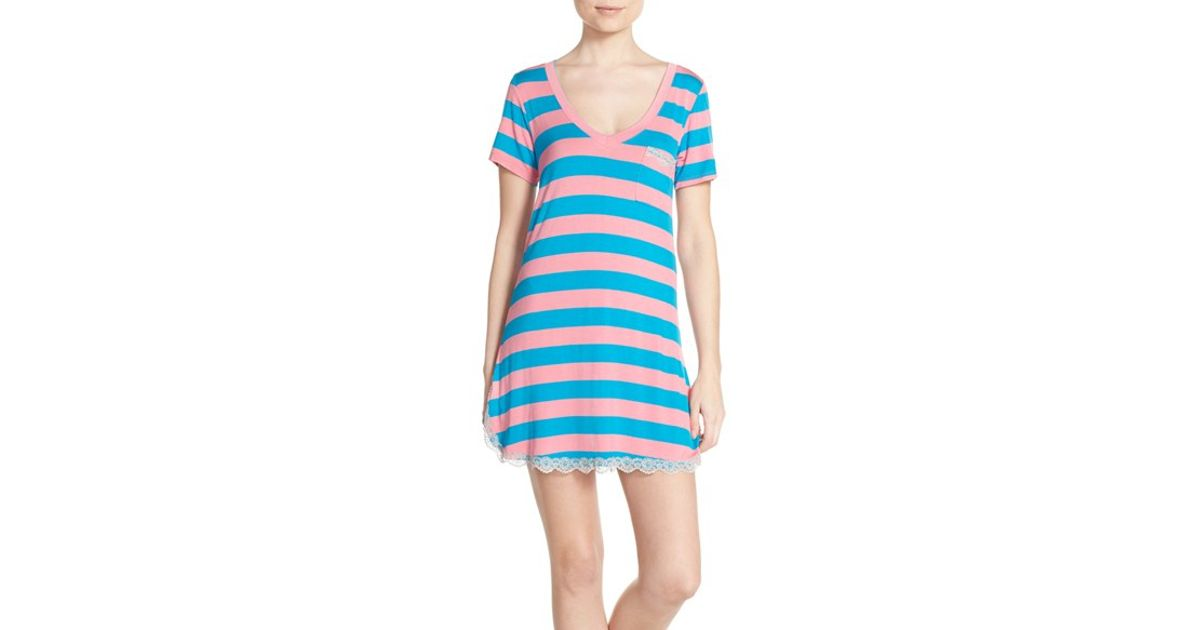 032d451e88 Lyst - Honeydew Intimates  all American  Sleep Shirt in Blue