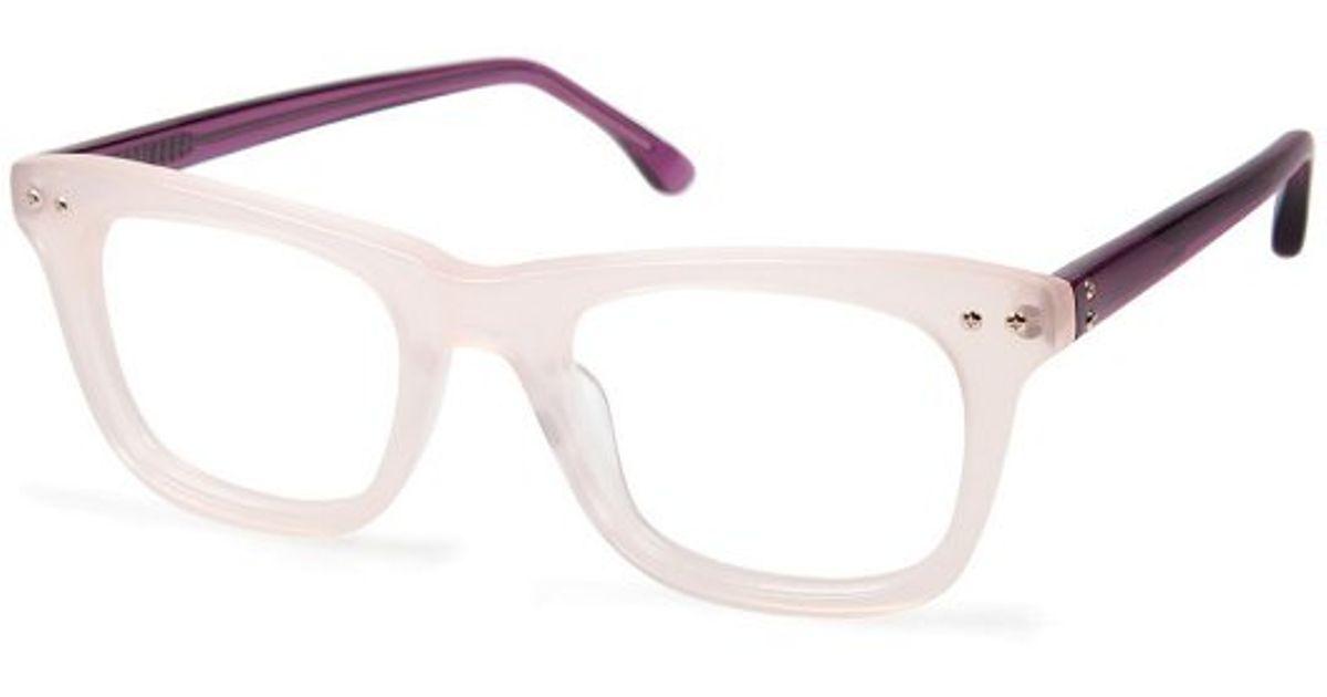 58c21940d74 Lyst - Cynthia Rowley Cynthia Cr5003 No. 62 Blush Square Plastic Eyeglasses  in Natural