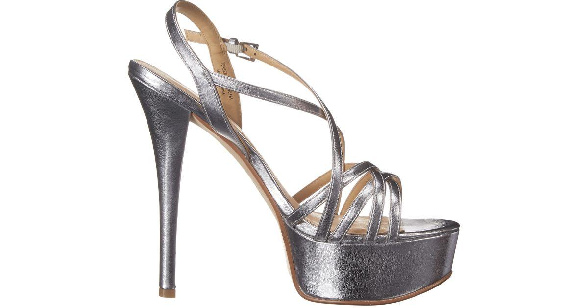d4fe7e8e335 Lyst - Chinese Laundry Teaser Platform Sandal in Metallic