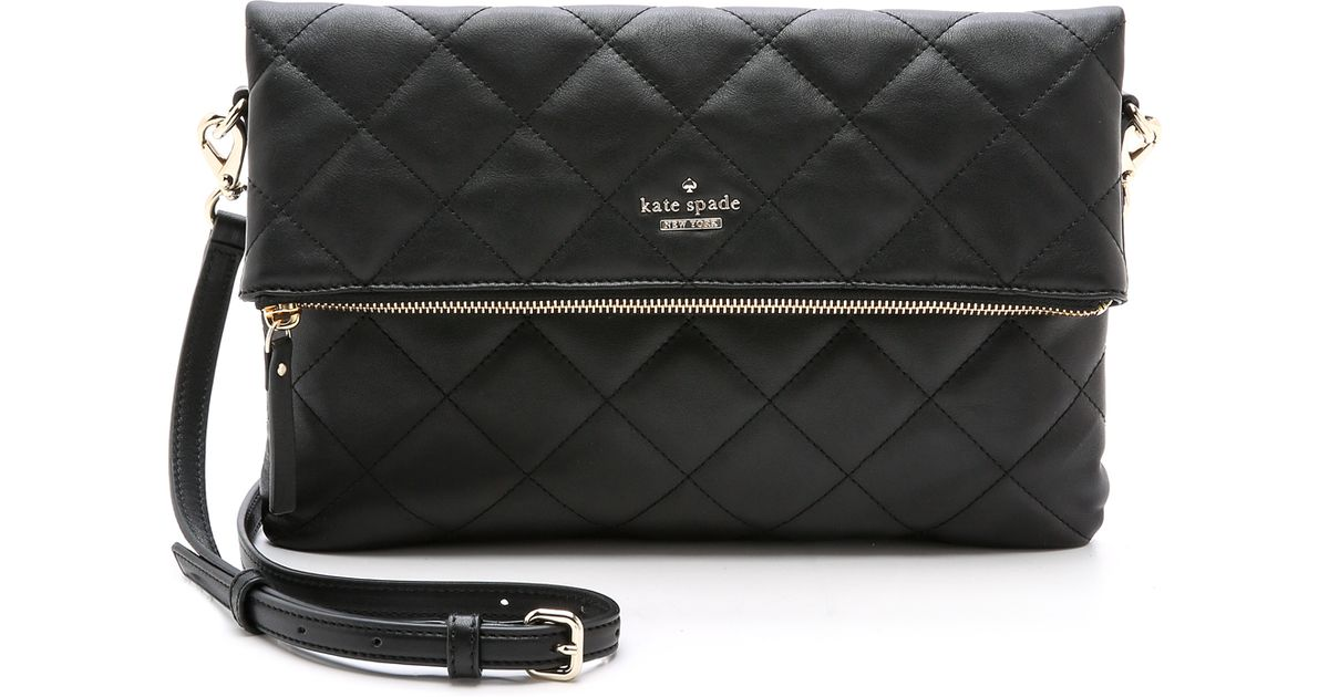 Kate Spade Emerson Place Quilted Carson Cross Body Bag Black In