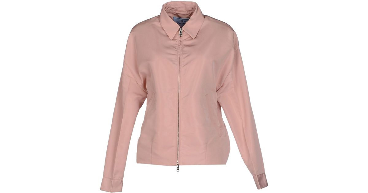 84b31aeb Prada Jacket in Pink - Lyst