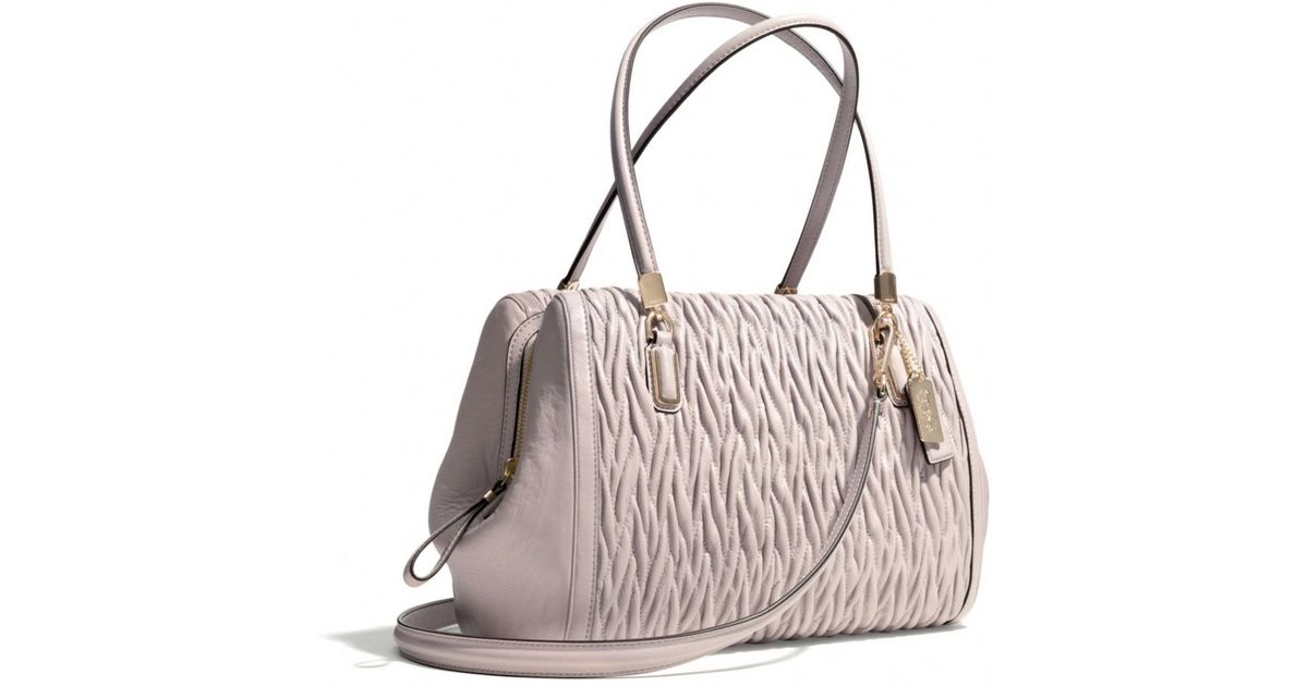 ... best lyst coach madison madeline eastwest satchel in gathered twist  leather in brown e2e0b 60dcf 33ff409b6b