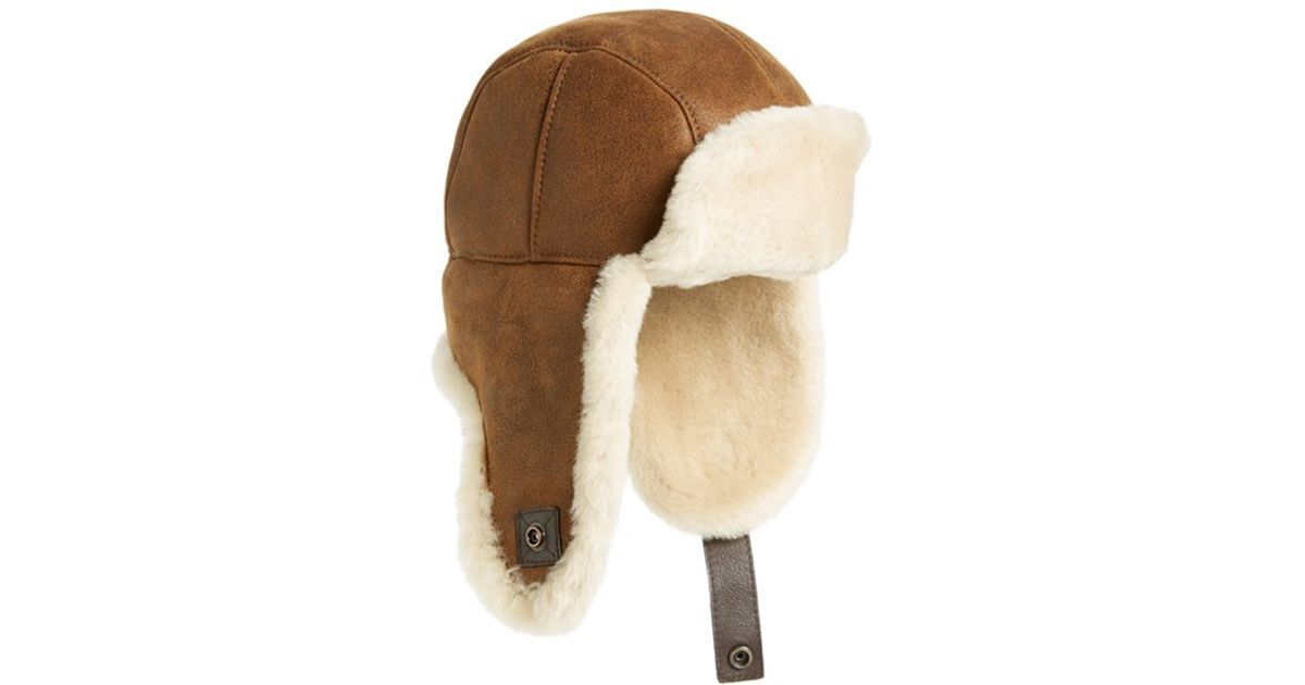 c92cb3ff1e3 Lyst - UGG Ugg Genuine Shearling Trapper Hat in Brown for Men
