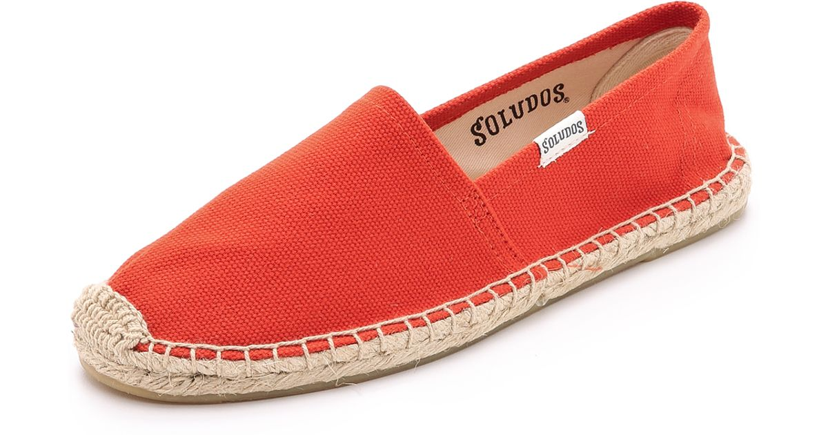c4d6f1704858 Lyst - Soludos Dali Espadrilles - Tangerine Red in Red