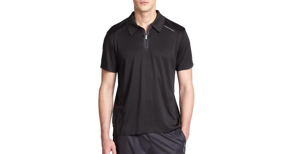 10531dd6af61 Porsche Design Driver's Polo Shirt in Black for Men - Lyst