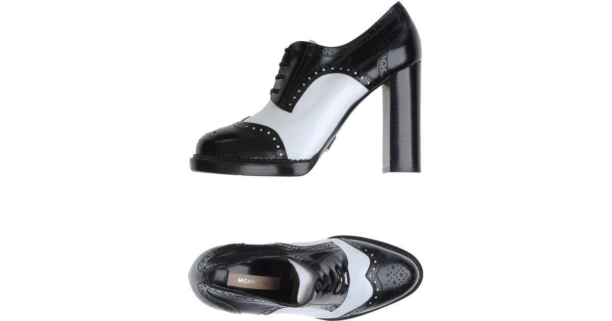 michael kors lace up shoes in black lyst