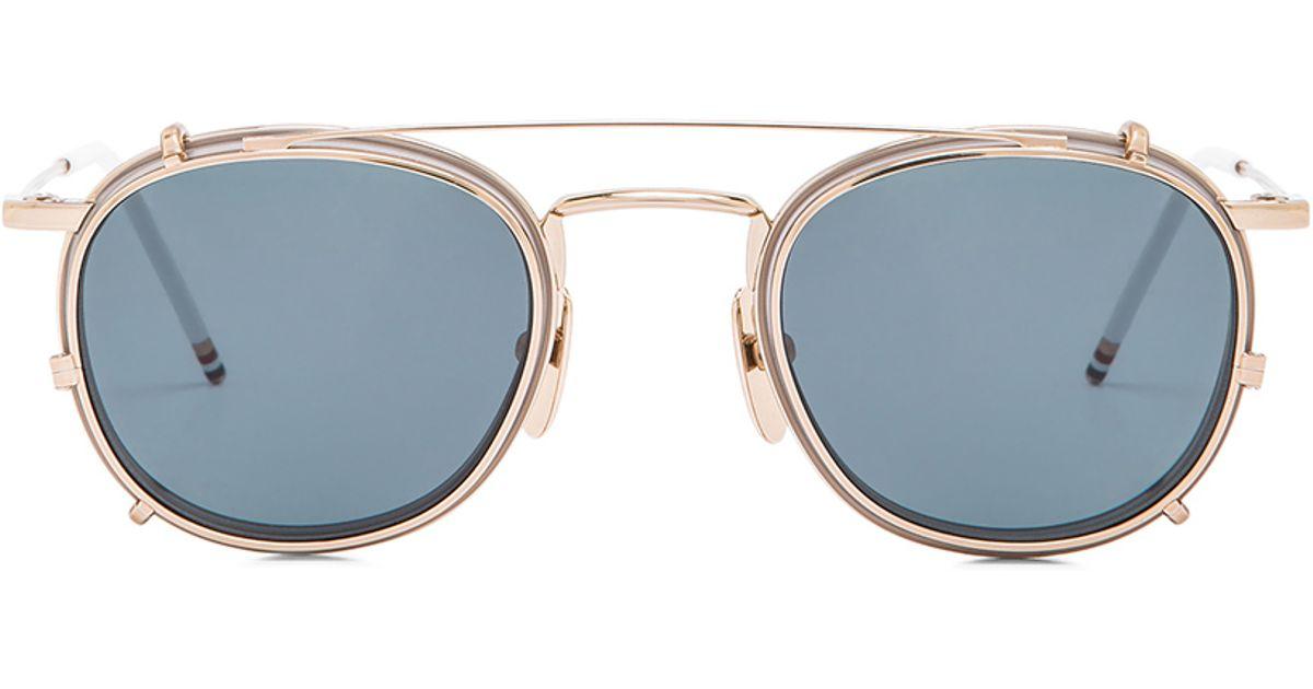 2ae9e88ba67 Lyst - Thom Browne Men S Clip On Sunglasses in Metallic