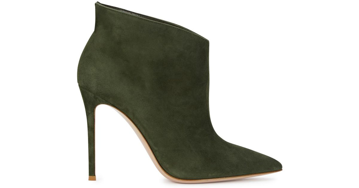 Gianvito Rossi Ankle Boots Kat Mid Bootie suede qAqorvu4yQ