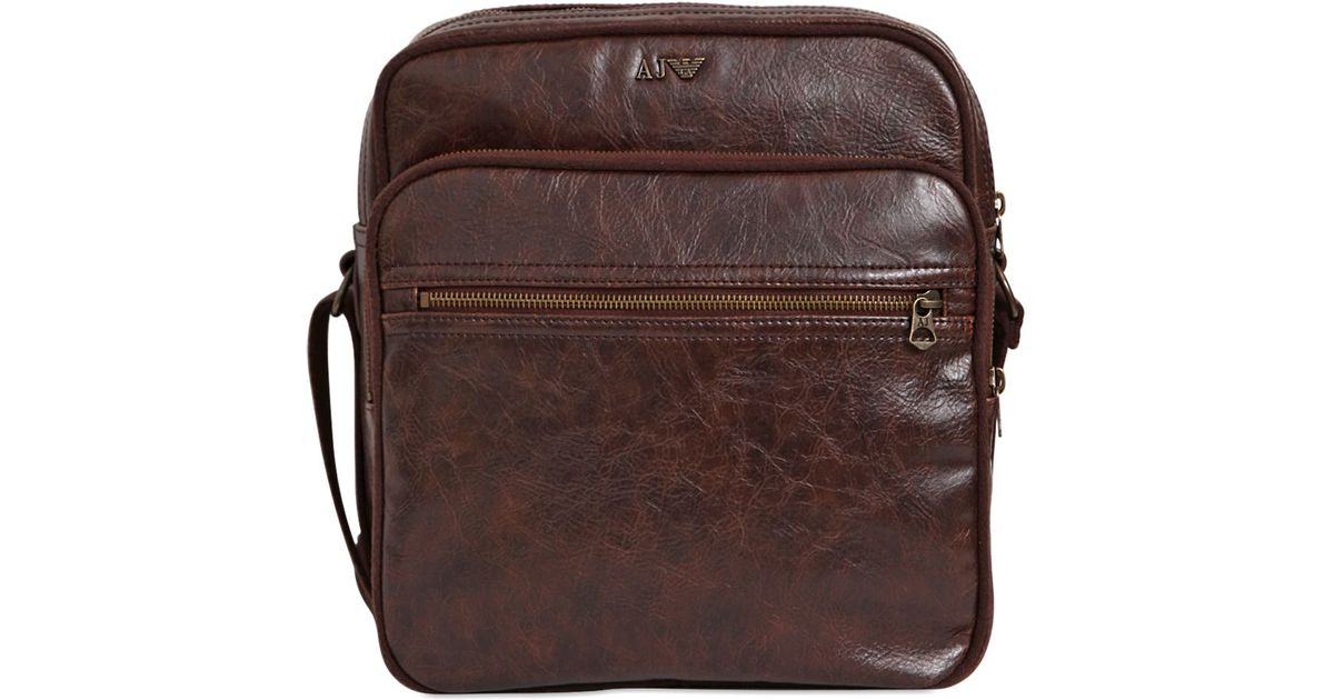 Lyst - Armani Jeans Faux Leather Crossbody Bag in Brown for Men 55eb0c74e53cf