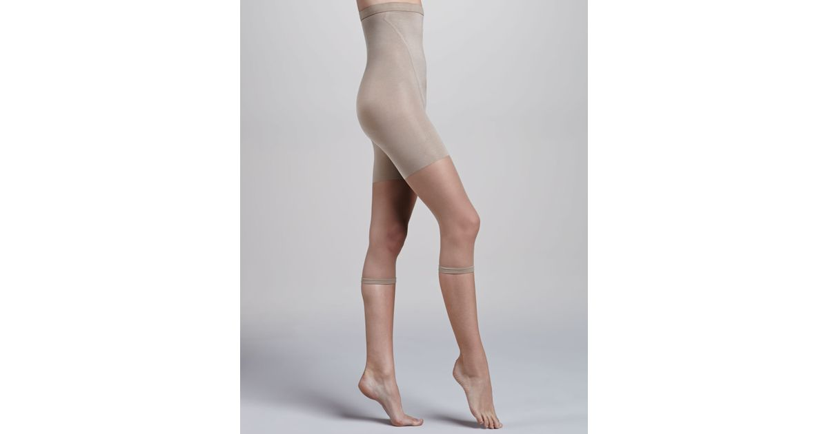 e6caf28cd1094 Lyst - Spanx In-Power Line Super High Footless Shaper in Natural