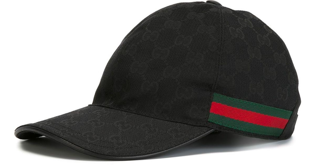 lyst gucci original gg canvas baseball hat for men. Black Bedroom Furniture Sets. Home Design Ideas