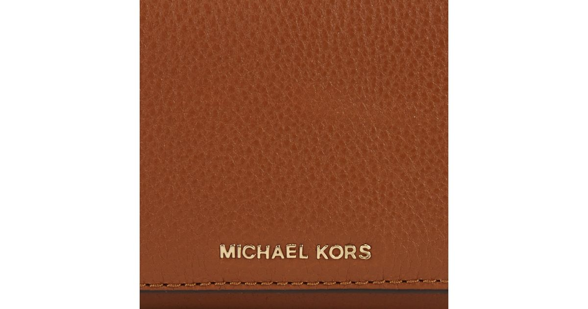 06c3fb7a1c13 MICHAEL Michael Kors Liane Leather Small Billfold Purse in Brown - Lyst