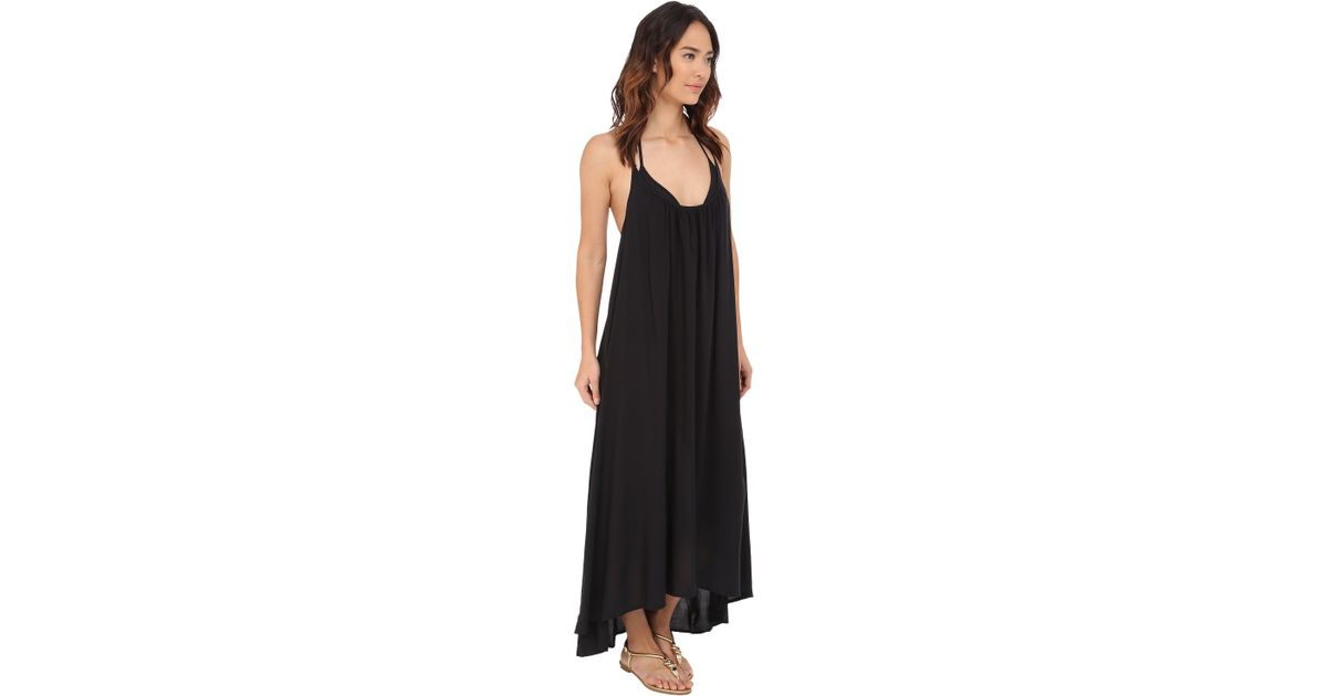 Lyst Vince Camuto Polish Racerback Maxi Dress Cover Up In Black