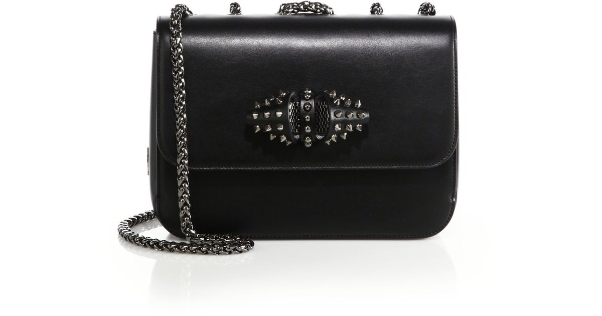 Christian louboutin Sweet Charity Studded Leather Crossbody Bag in ...
