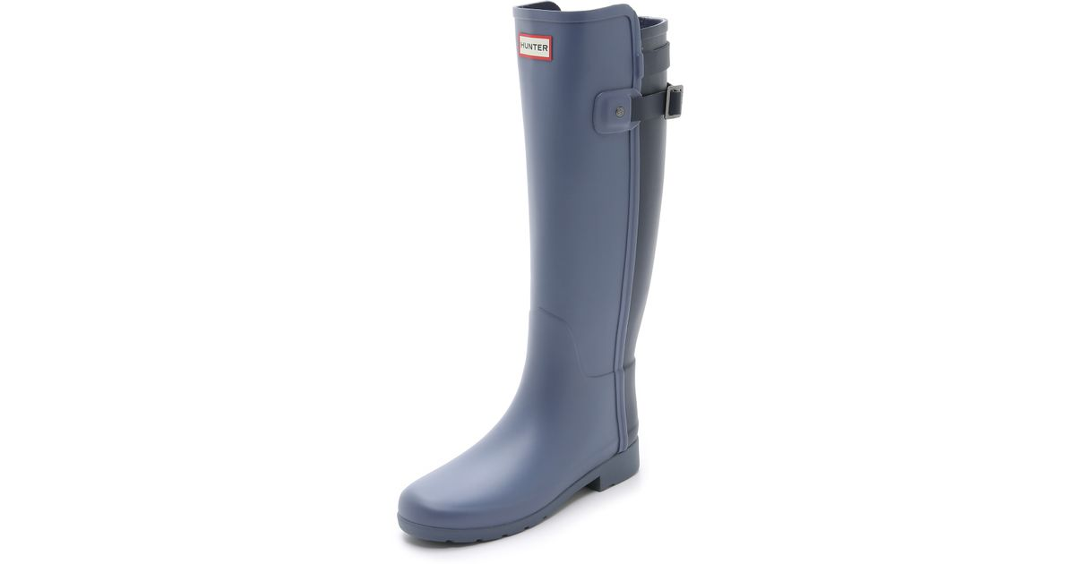 Hunter Original Refined Back Strap Boots Mineral Blue