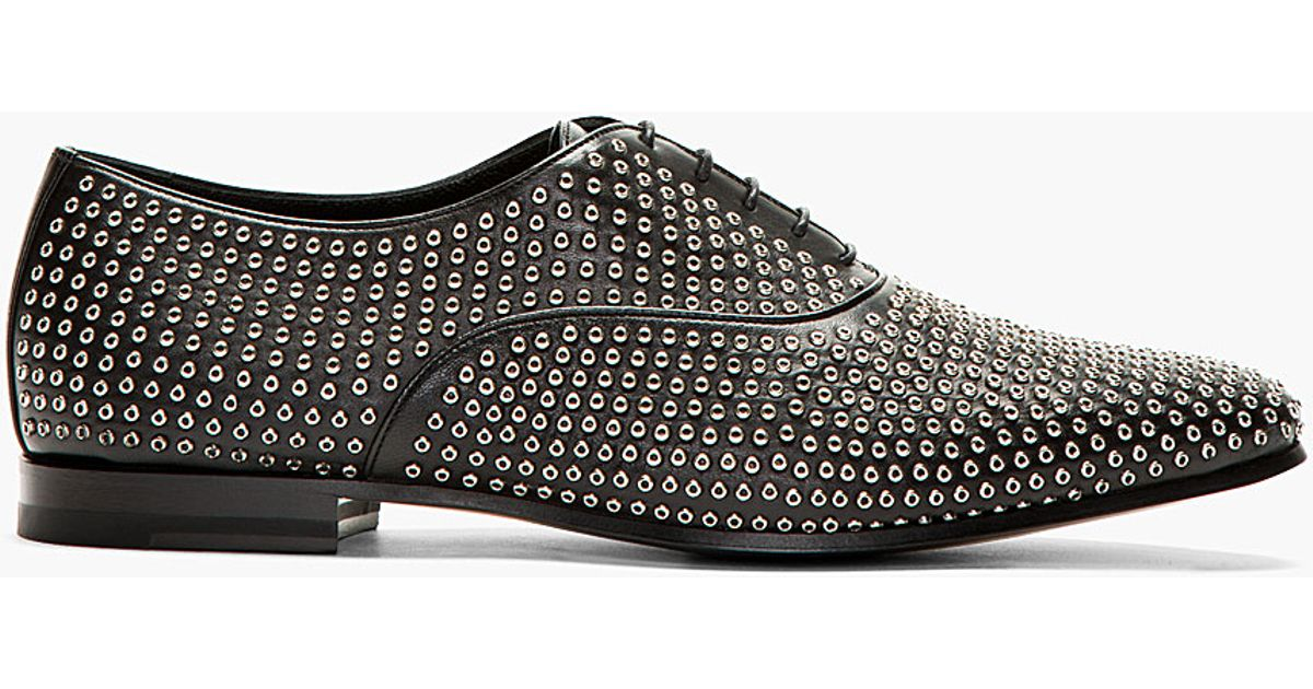 Saint Laurent Leather Studded Oxfords finishline sale online real cheap online sale Cheapest bOugVM