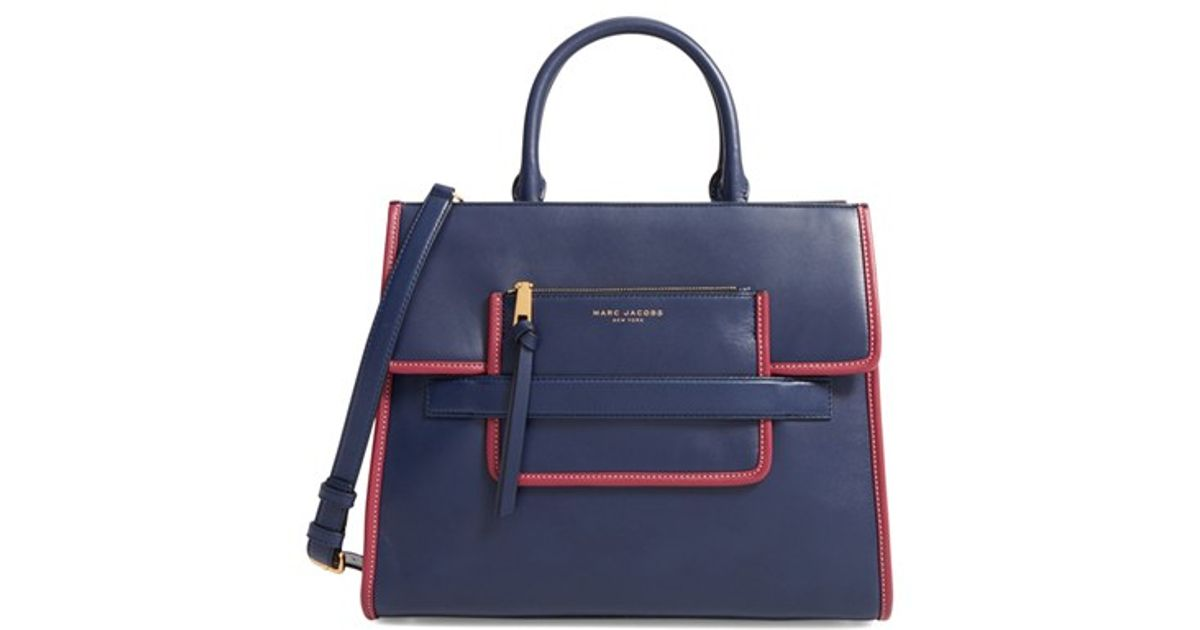 Exceptionnel Marc jacobs 'madison North South' Leather Tote in Blue | Lyst QI46