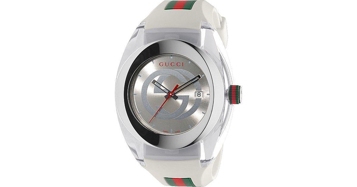b5d4b0eea56 Gucci Ya137102 Sync Stainless Steel Watch in Metallic for Men - Lyst