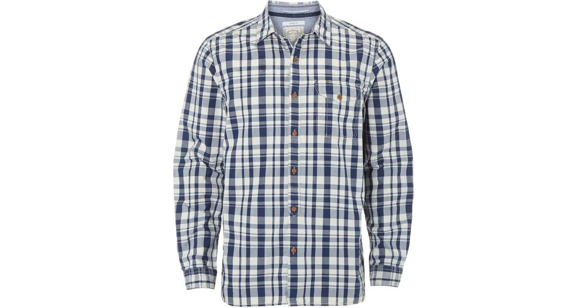Lyst White Stuff Foundry Indigo Check Shirt In White For Men