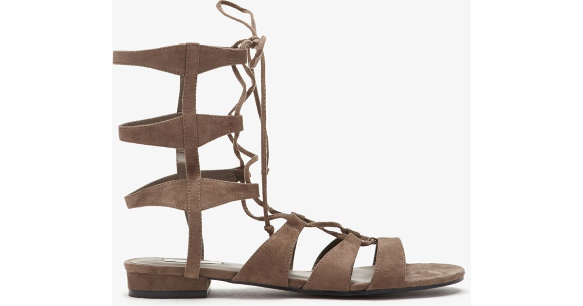 Lyst - Forever 21 Faux Suede Gladiator Sandals in Gray b690b20f105f