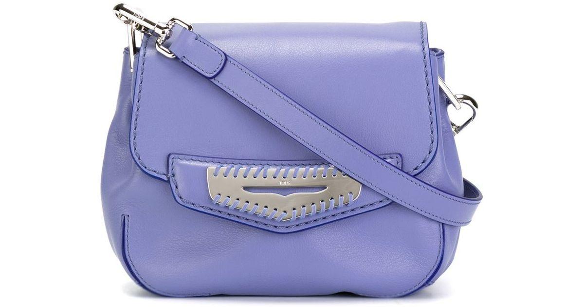 1c1863fe3a9 Tod's 'mask' Crossbody Bag in Purple - Lyst