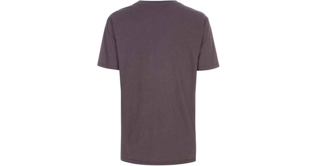Paul smith men 39 s grey cotton and silk blend t shirt in for Cotton silk tee shirts