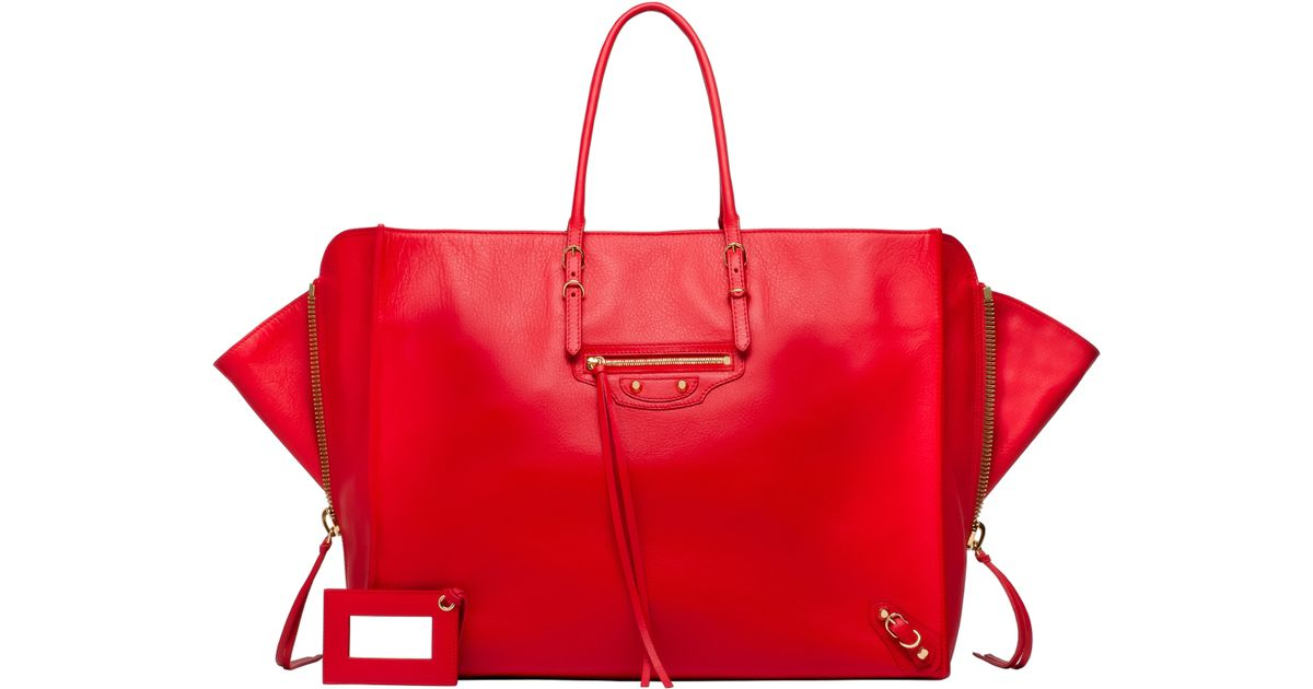 Lyst Balenciaga Papier A4 Zip Around Chinese New Year In Red