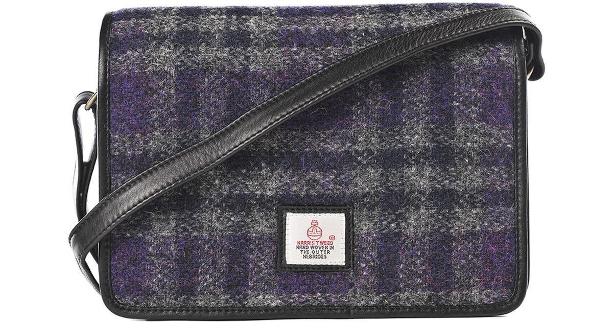 74360d8ad6f5 Lyst - Maccessori Purple Harris Tweed Cross Body Bag in Blue