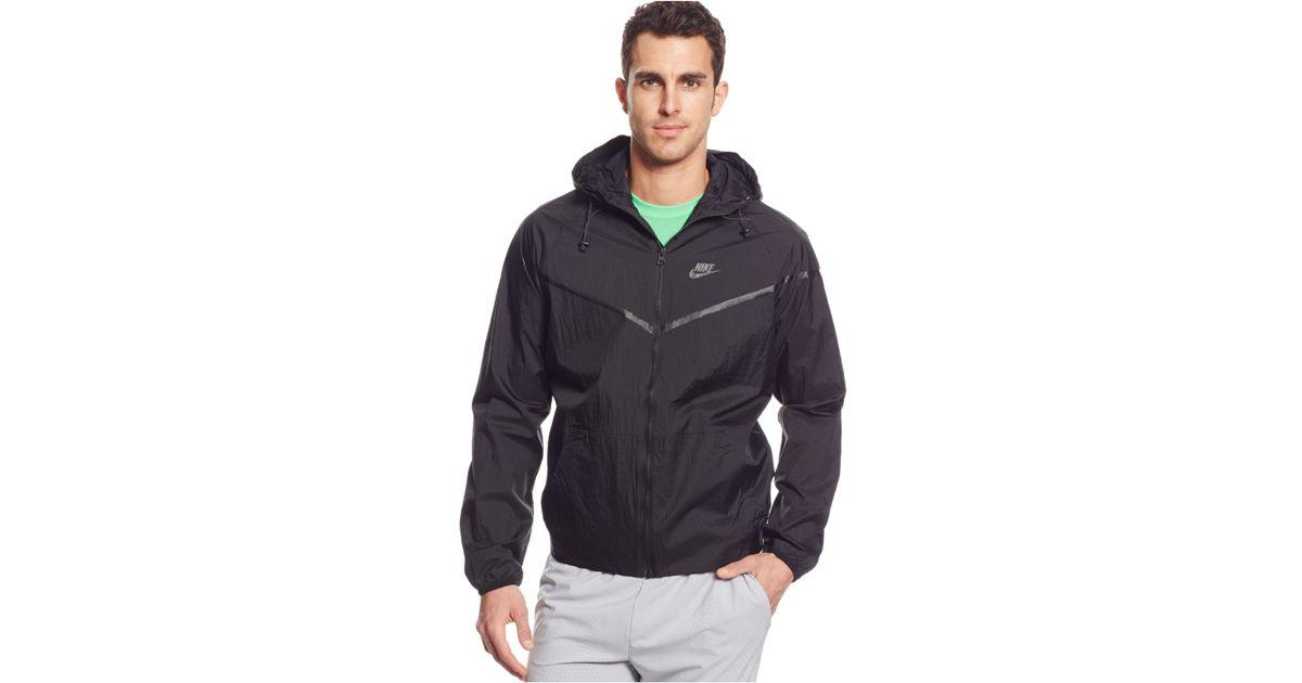 0ab6e46571f3 Lyst - Nike Tech Aeroshield Windrunner Jacket in Black for Men