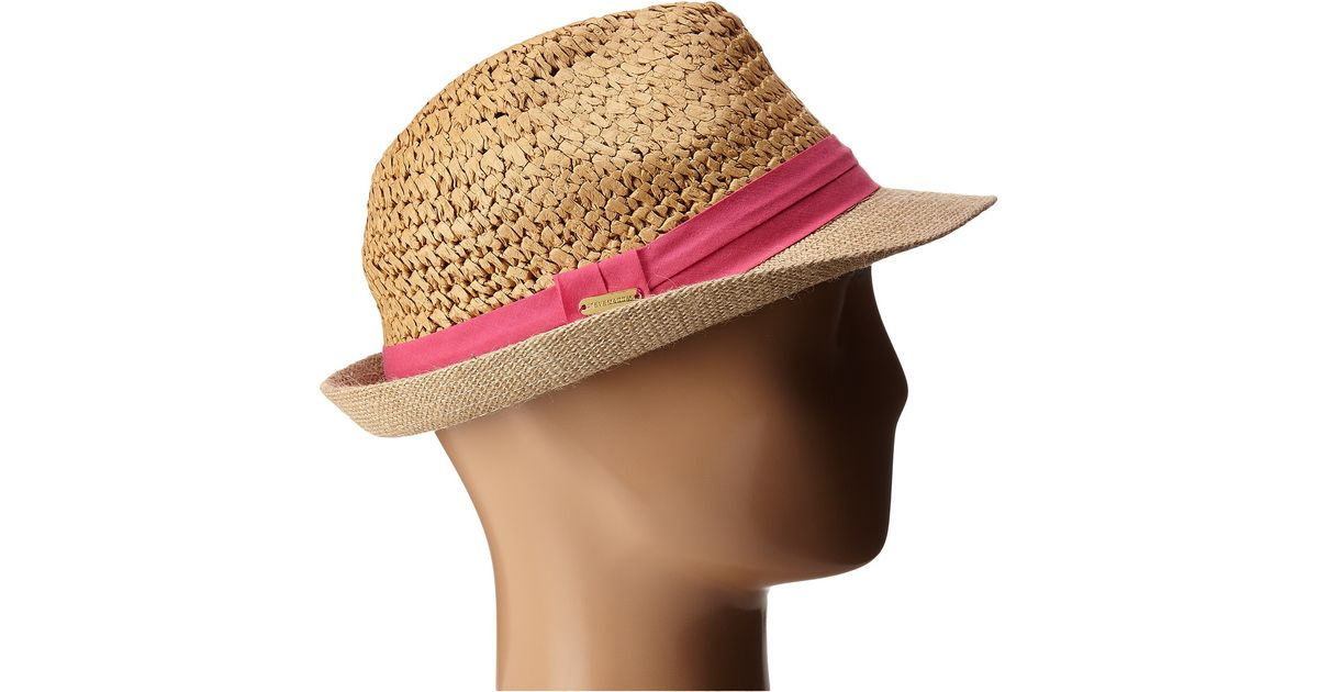 1155f2ebb9215 Lyst - Steve Madden Two Weave Banded Fedora in Purple