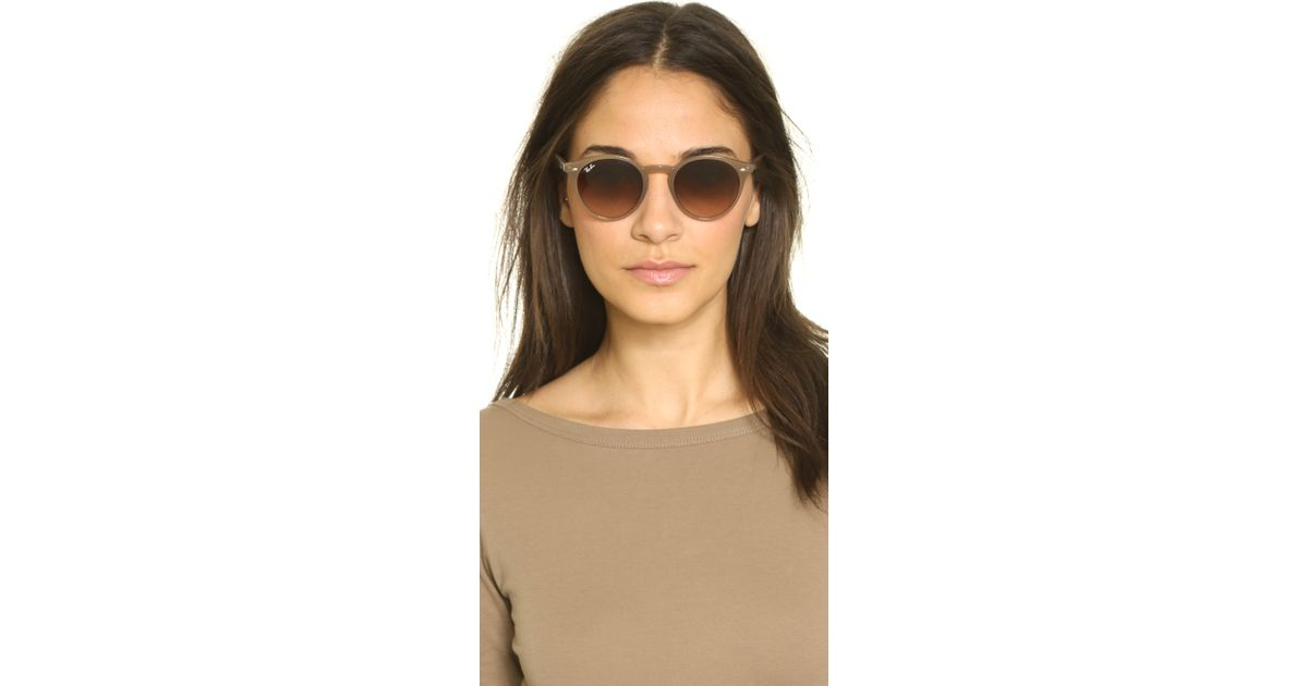 230f19ebe5f3 Ray-Ban Highstreet Round Sunglasses - Green/grey Gradient in Gray - Lyst