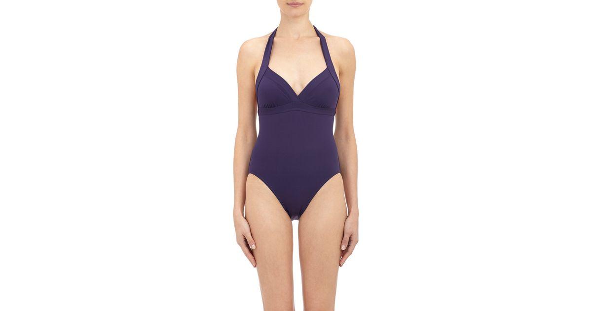 e4af214e679b4 Eres Women's Cassis Halter Swimsuit in Blue - Lyst