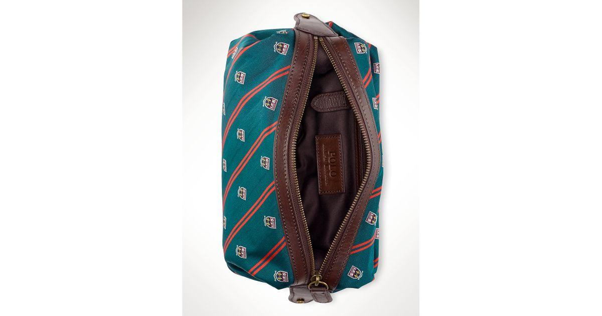 0b12b7059335 Lyst - Polo Ralph Lauren Silk-tie Shaving Kit in Green for Men