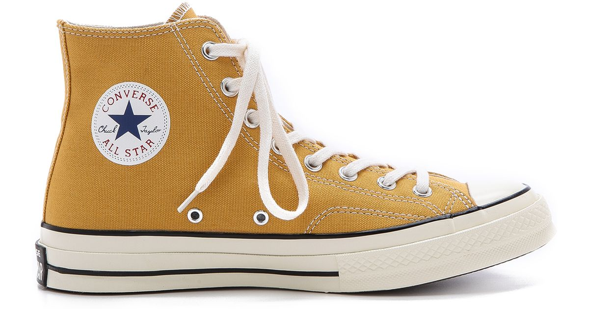 d65e17ee294729 Lyst - Converse All Star 70s High Top Sneakers in Yellow for Men