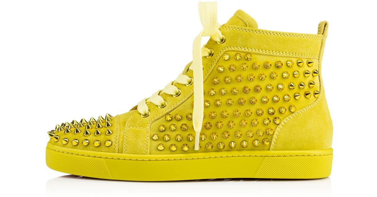 christian louboutin yellow spikes